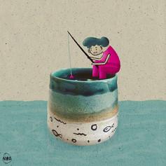 Pottery fun - Fishing