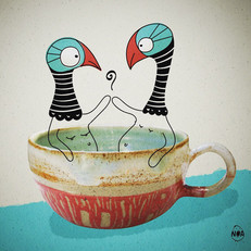 Pottery fun - birds