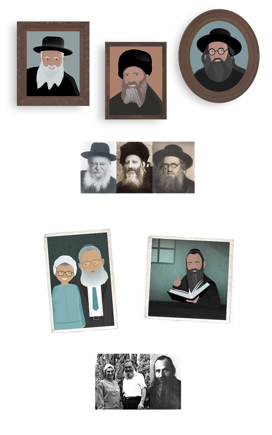 Portraits of rabbis