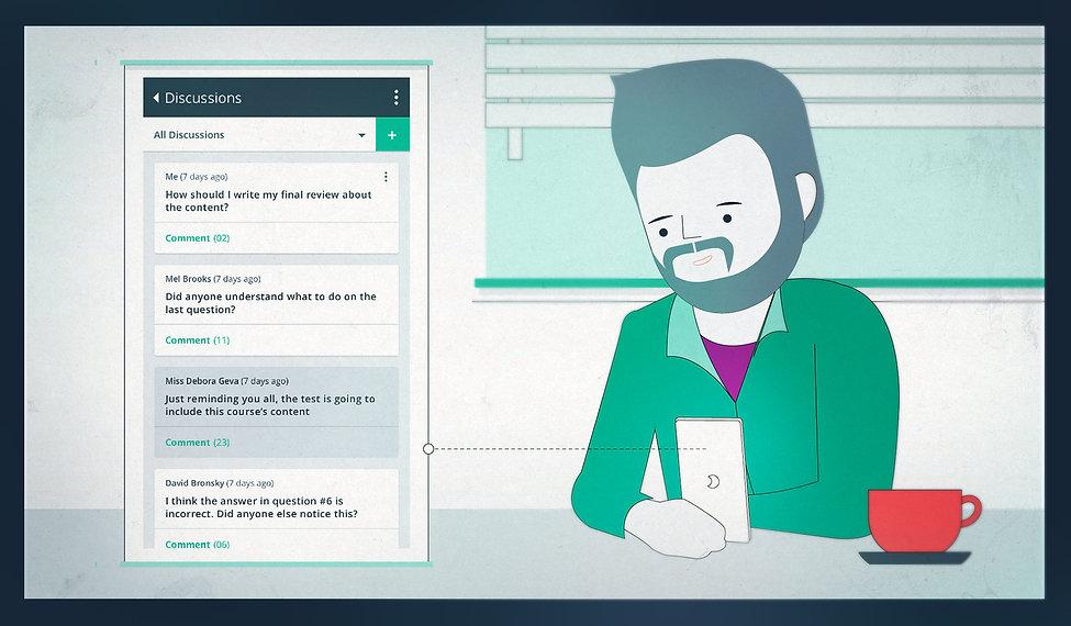 echo - student on app