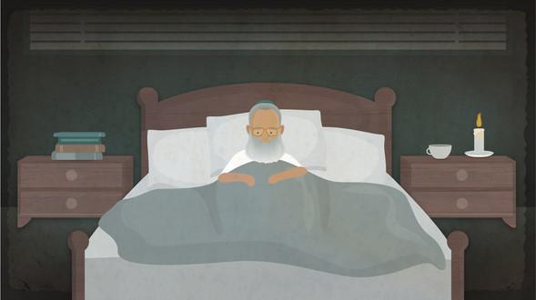 Rabbi Neria - sick in bed