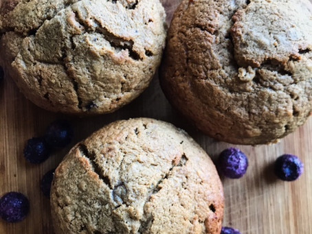 Hemp Heart Blueberry Banana Muffins