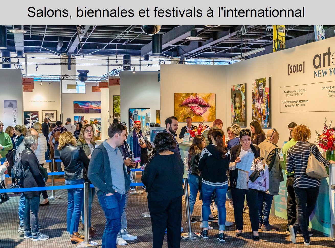 Salons, biennales, festivals à l'internationnal