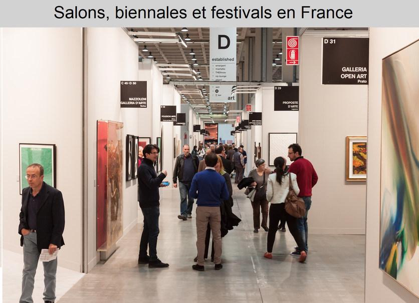 Salons, biennales, festivals en France