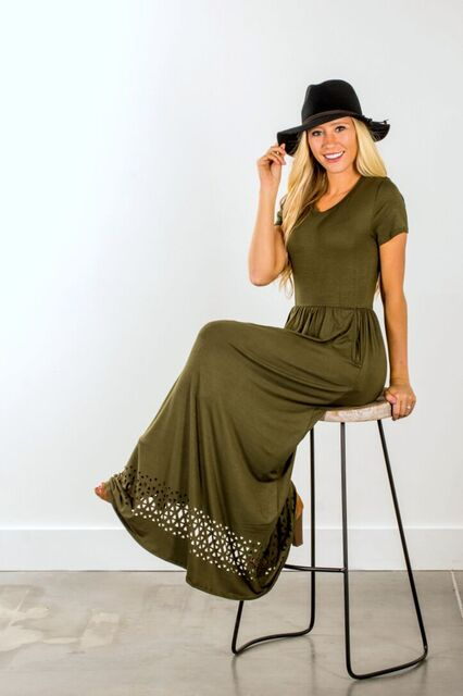 LILLE MAXI DRESS OLIVE 14