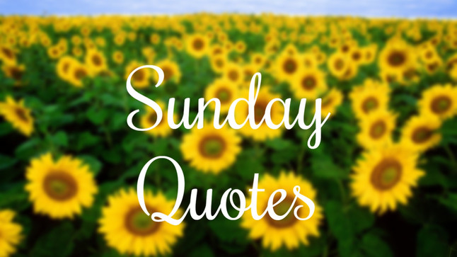 Sunday: Conference Quotes