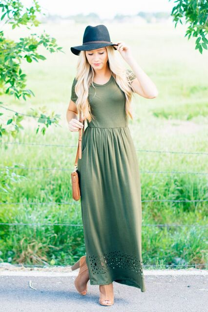 LILLE MAXI DRESS OLIVE 1