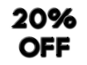 20% Discount Code