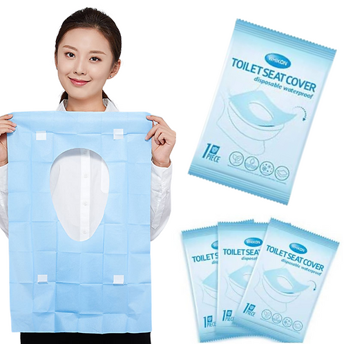 Disposable Toilet Seat Covers - Waterproof Individually Wrapped, Portable