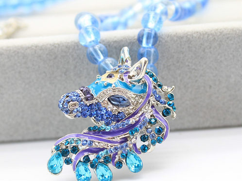 Exquisite Gorgeous Stallion Necklace - Horse Necklace for women/teen Girls