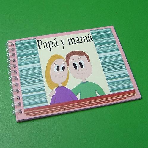 """Libro """"Papá y mamá"""" niña"""