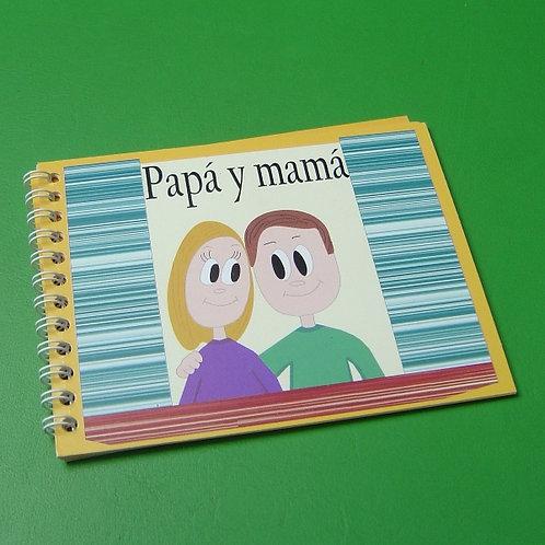 """Libro """"Papá y mamá"""" niño"""