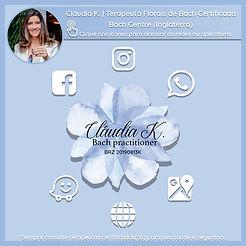 Cláudia K. Florais Cartão Virtual 1080 x 1080