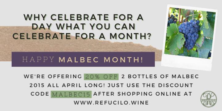 Malbec 2015 April Wine Sale