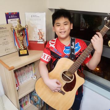 香港青年兒童音樂家大賽--吳灝霖 木結他 小學組高級組 銅獎 最受歡迎總及亞軍