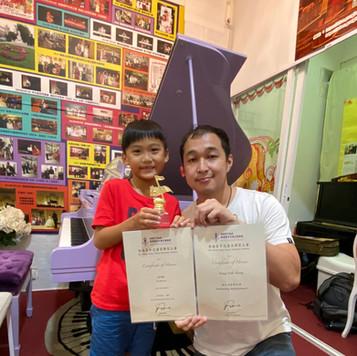 香港青年兒童音樂家大賽--廖皓麟 鋼琴 小學初級組金獎