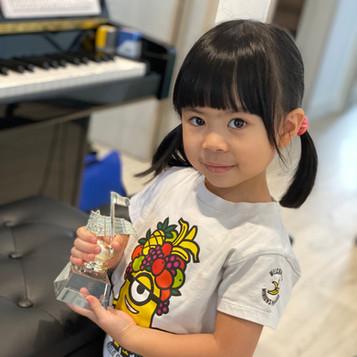 香港青年兒童音樂家大賽--鄭卓琦 鋼琴 幼稚園銀獎