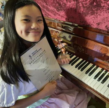 香港青年兒童音樂家大賽--黃紀鎣 鋼琴 小學高級組銅獎