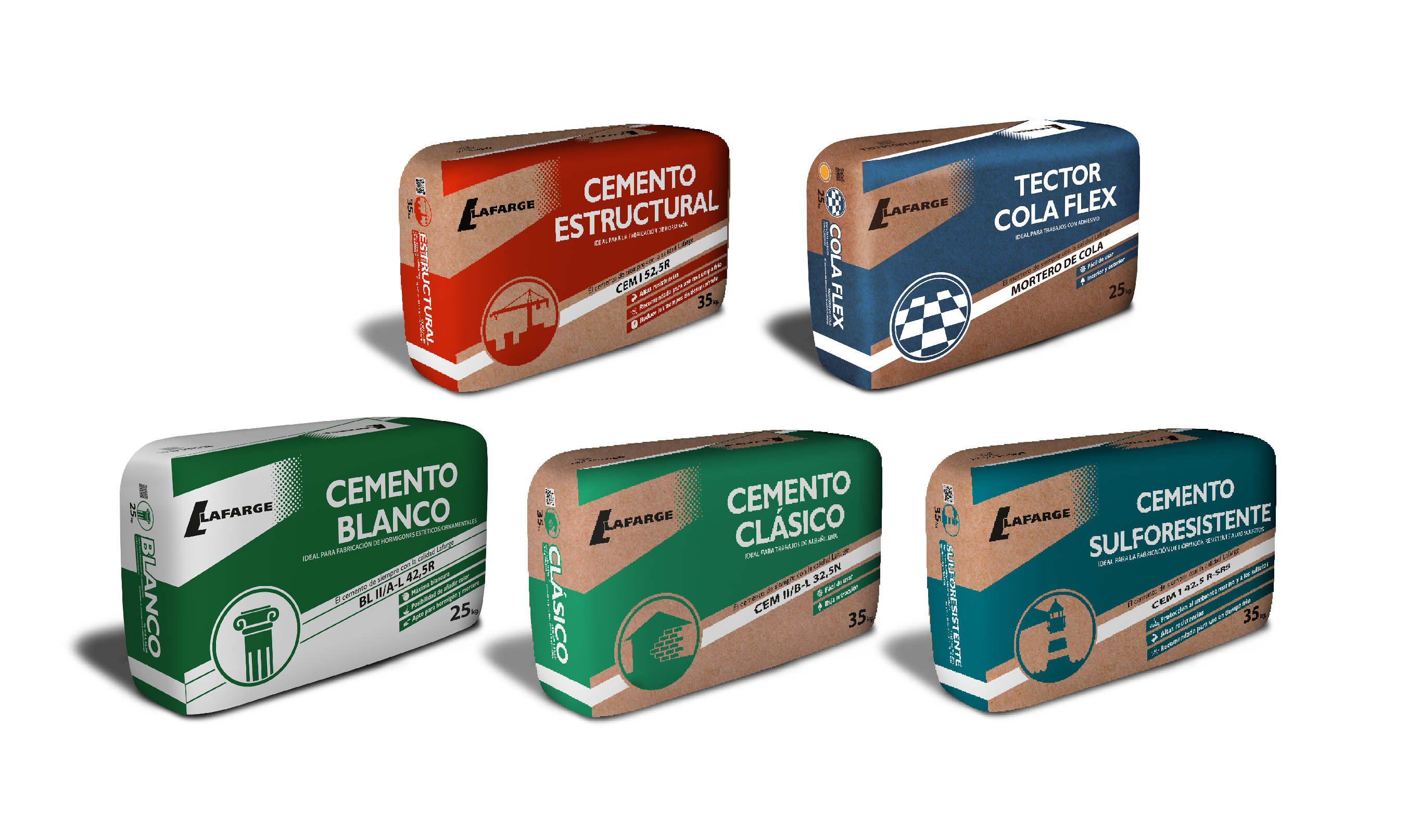 Rediseño packaging cemento Lafarge