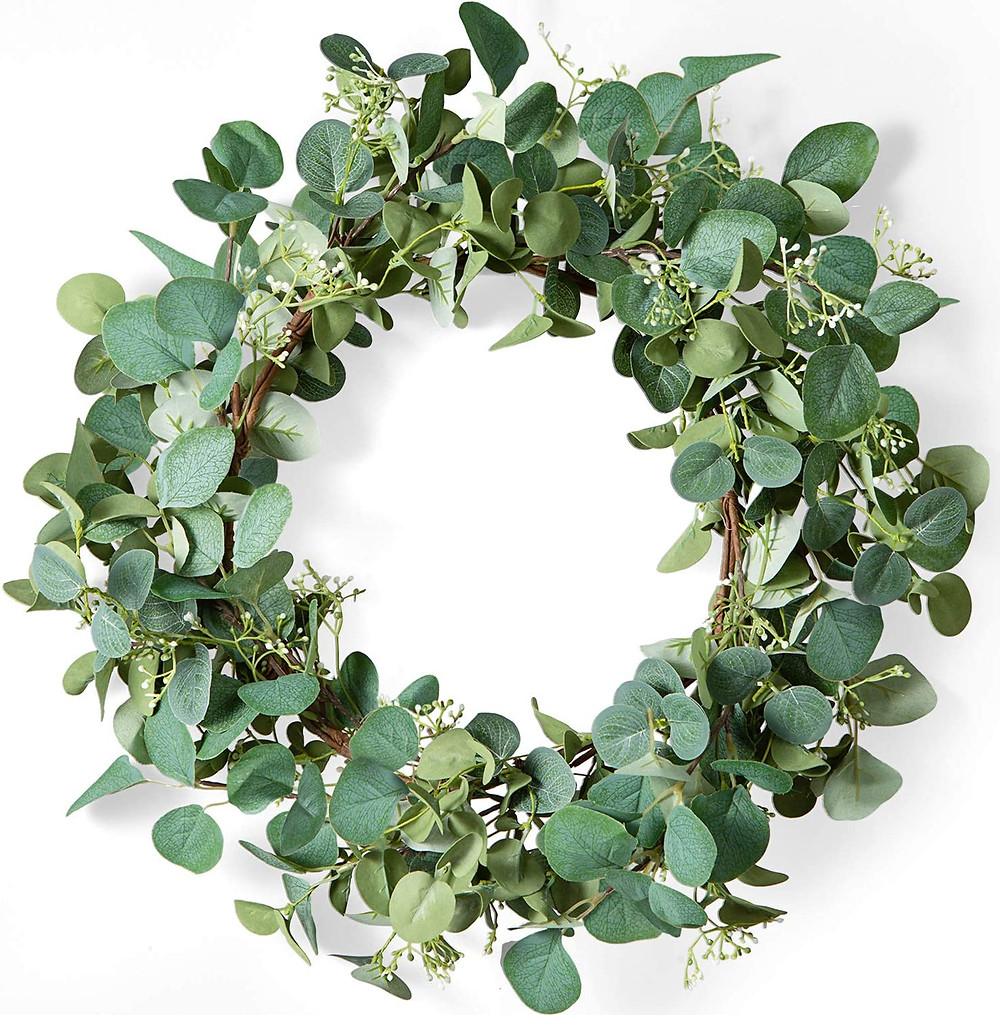 """20"""" wreath for $26 from Amazon."""