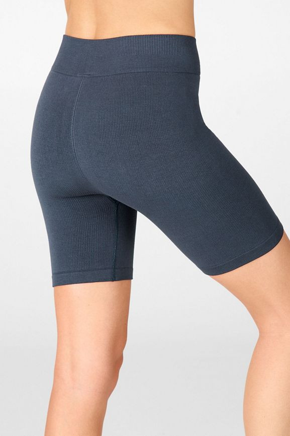 High-Waisted Seamless Rib Short, in Thunder in XS