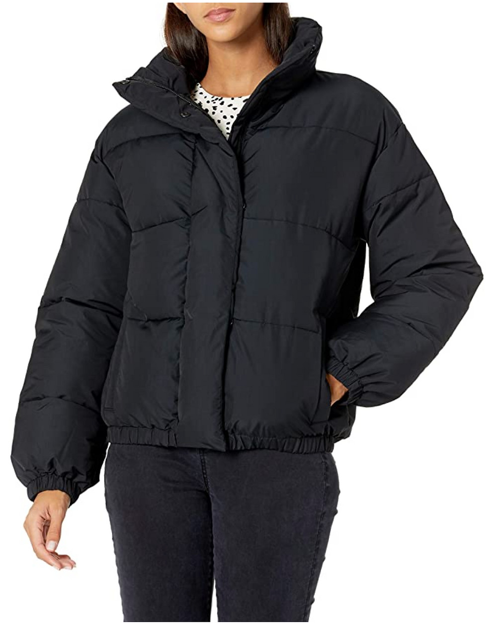 Puffer Jacket, from Amazon, under $60. Great for daily casual use.