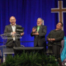 "Frostburg UMC- Pastor Kyle / Receiving ""One Matters"" Award / Bishop LaTrelle Easterling / BWCUMC"
