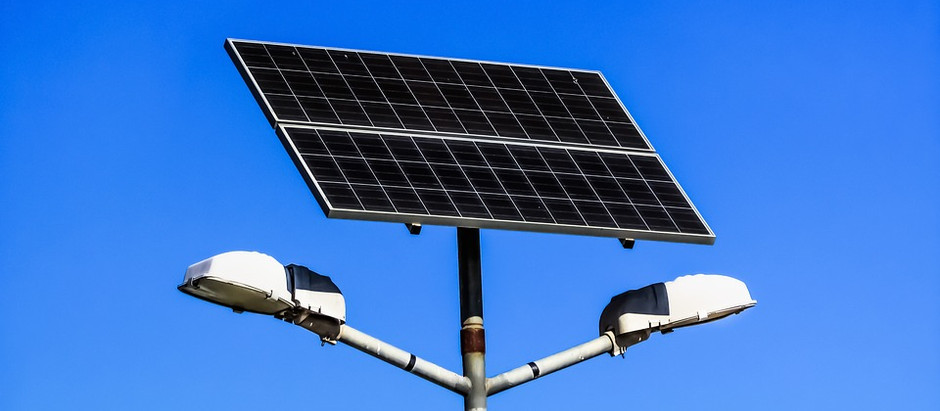 Solar powered street lights/ parking lights