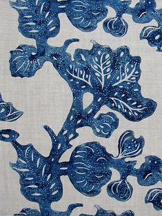 Indigo Fruiting Fig on Natural Linen, Incredible India Range, Botanica Trading