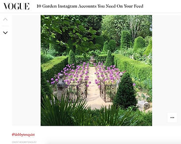 Jardins Agapanthe, on Vogue UK