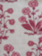 Berry Mughal Floral Stripe on Natural Linen, Incredible Range, Botanica Trading