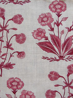 Berry Mughal Floral Stripe on Natural Linen, Incredible Range, Botanica Trading