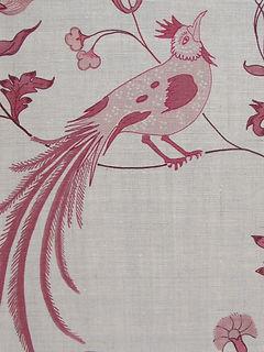 Bird Song Pink On Natural Linen, Incredible India Range, Botanica Trading