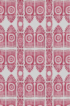 Serena Ikat Pink & Red