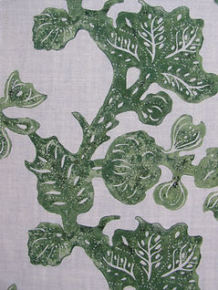 Olive Fruiting Fig on Natural Linen, Incredible India Range, Botanica Trading