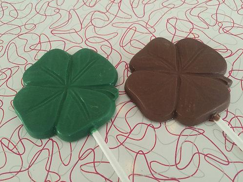 four leaf clover lolly