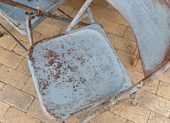 folding vintage metal chairs