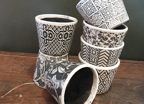 Black Vintage Pot