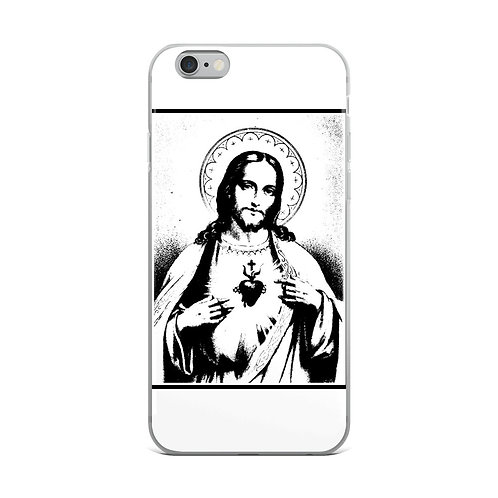 Sacred Heart of Jesus iPhone Case White and Black Gifts of Faith