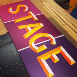 Stage signwriting