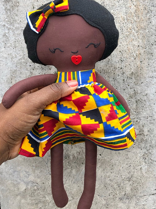 Kente Print Medium Rag Doll