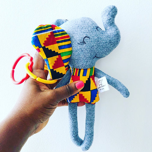 New Kente Print Elephant Softie