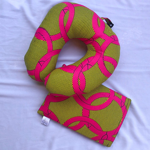 Neck Pillow and Booksleeve Set