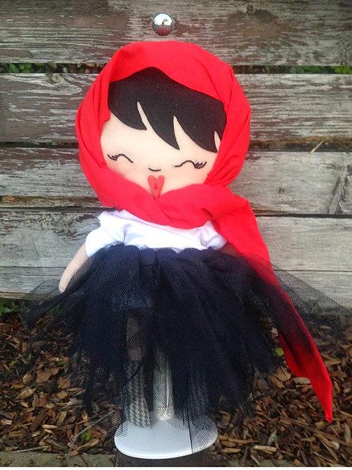 I Love My Head Wrap Rag Doll