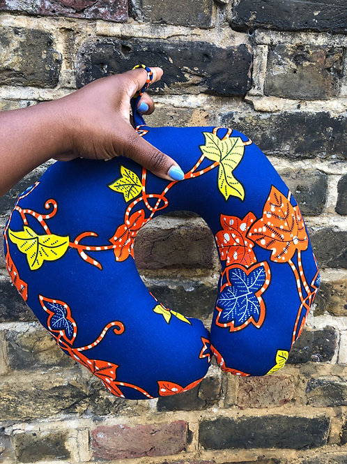 Floral  African Print Travel/Neck Pillow