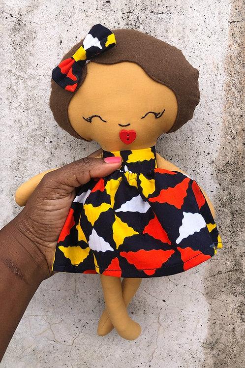African Print Medium Rag Doll