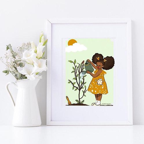 I Love my Garden Print