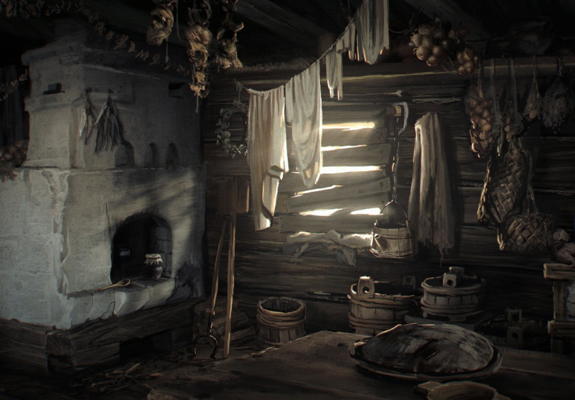 Main Hut Interior - Oven