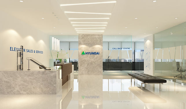 Hyundai Elevator Reception - SUA Interio