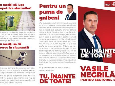 Vasile Negrilă intră in cursa pentru Primaria Sectorului 4
